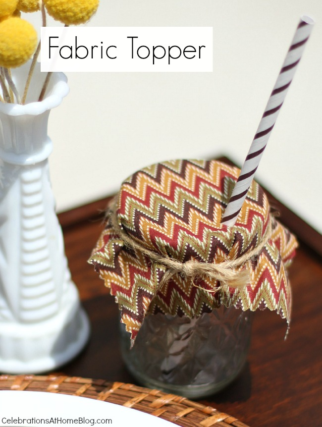 4 ways to keep those pesky bugs out of your summer drinks - fabric topper