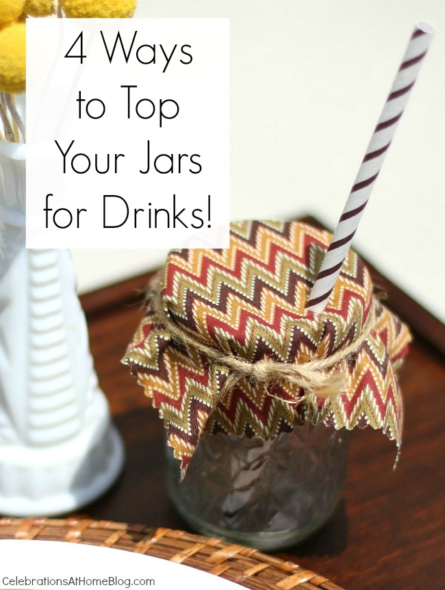 4 ways to keep those pesky bugs out of your summer drinks. Start with small canning jars + these toppers.