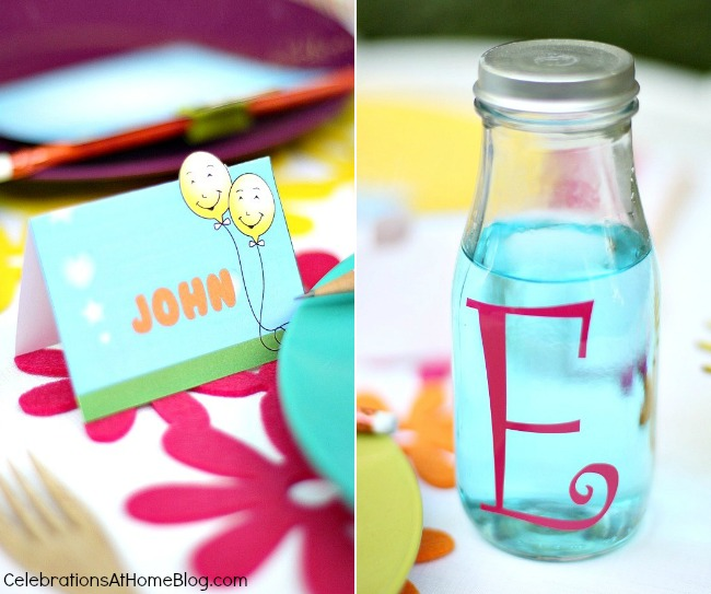 kids party personalized details