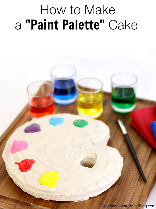 "how to make a ""paint palette"" cake"