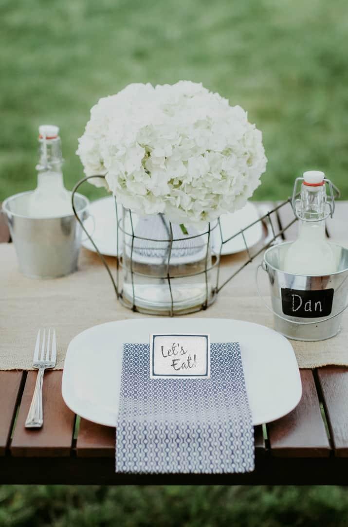 outdoor table centerpiece