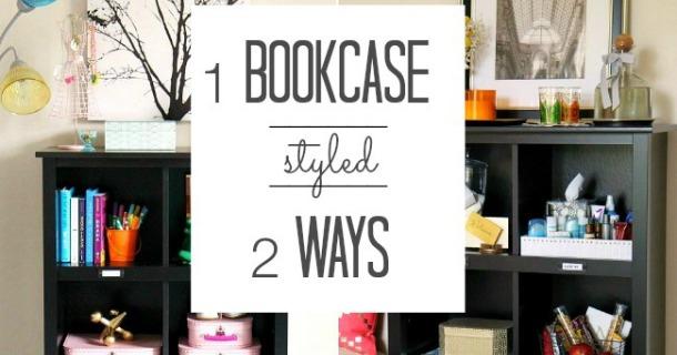 1 Bookcase Styled 2 Ways