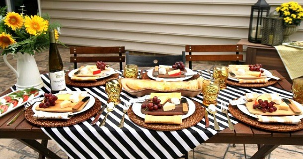Entertaining : Welcome Fall with a Dinner Party Al Fresco