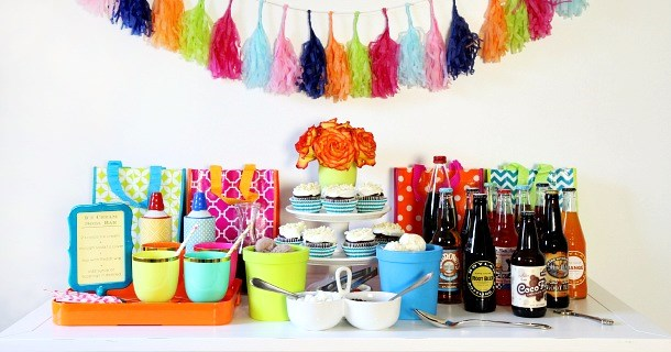 Celebrate Birthdays with an Ice Cream Soda Bar