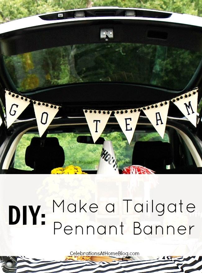 make a tailgate pennant banner #diy