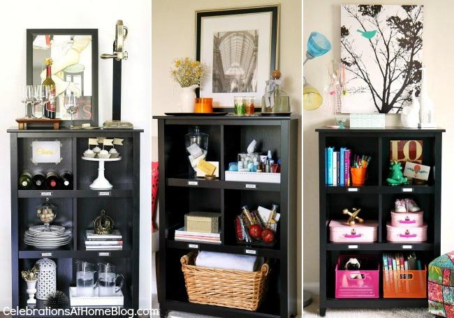bookcase 3 ways