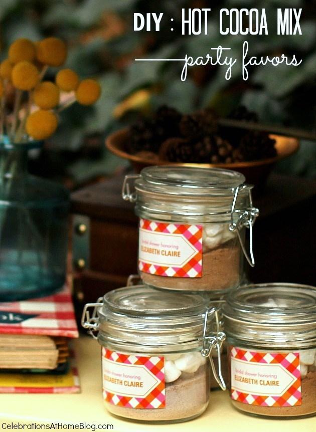 hot cocoa mix recipe_favors in a jar