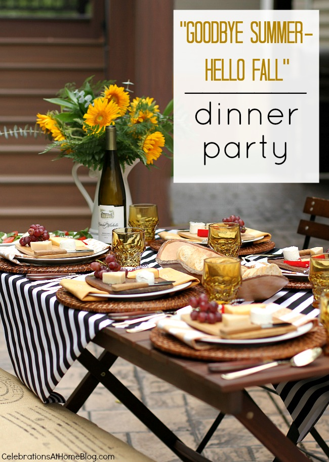 Entertaining Welcome Fall With A Dinner Party Al Fresco