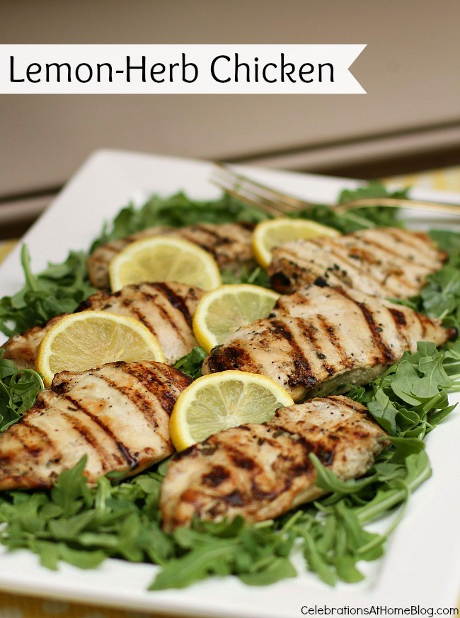 Lemon-Herb Chicken Grilled Breasts