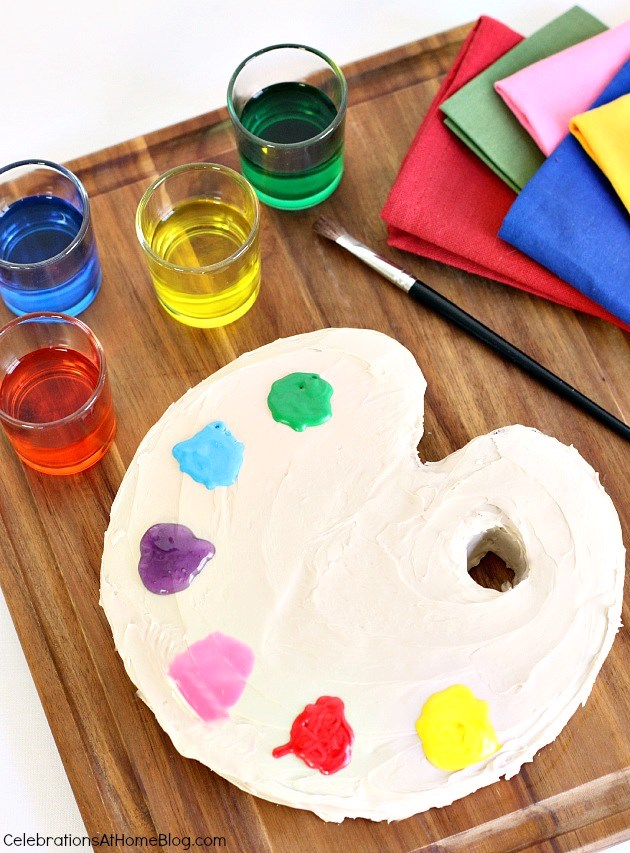 how to make a paint palette cake