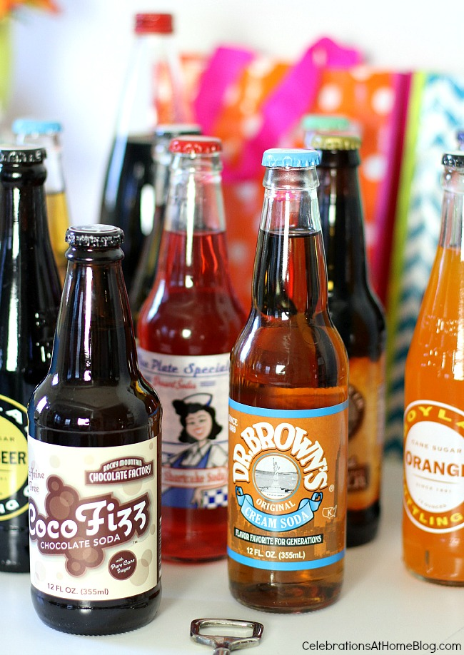 Celebrate birthdays or any occasion with an ice cream soda bar.
