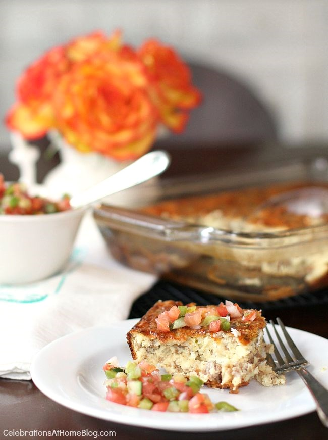 This make-ahead sausage egg bake is terrific for brunch or dinner!