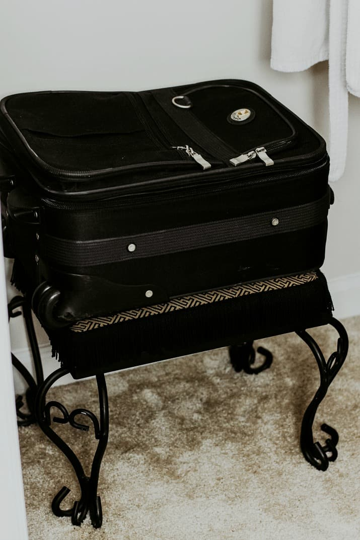 suitcase bench