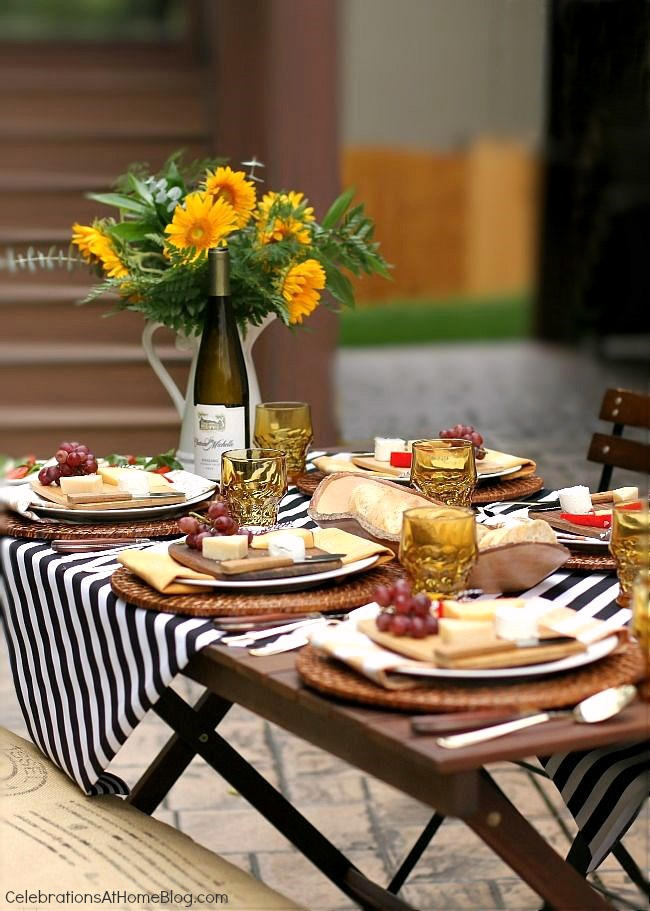 welcome fall with a dinner party al fresco celebrations at home