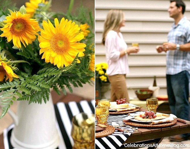 Welcome fall or summer with a dinner party al fresco.