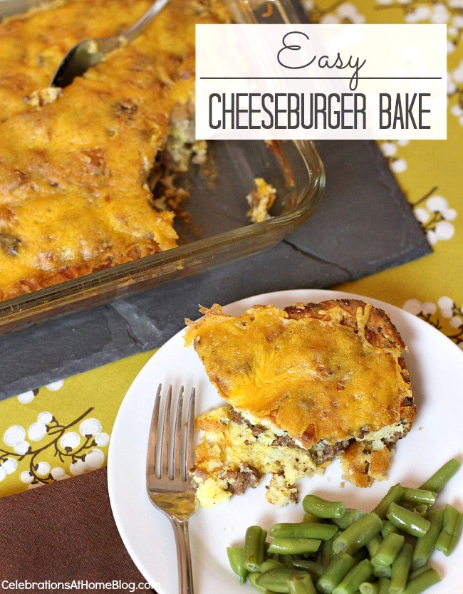 Cheeseburger bake is what's for dinner! Make this easy recipe and share the love with the family.