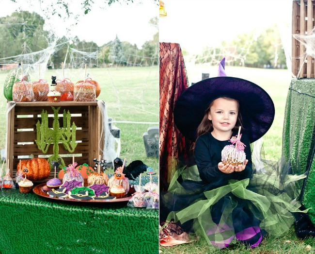 little witches Halloween party