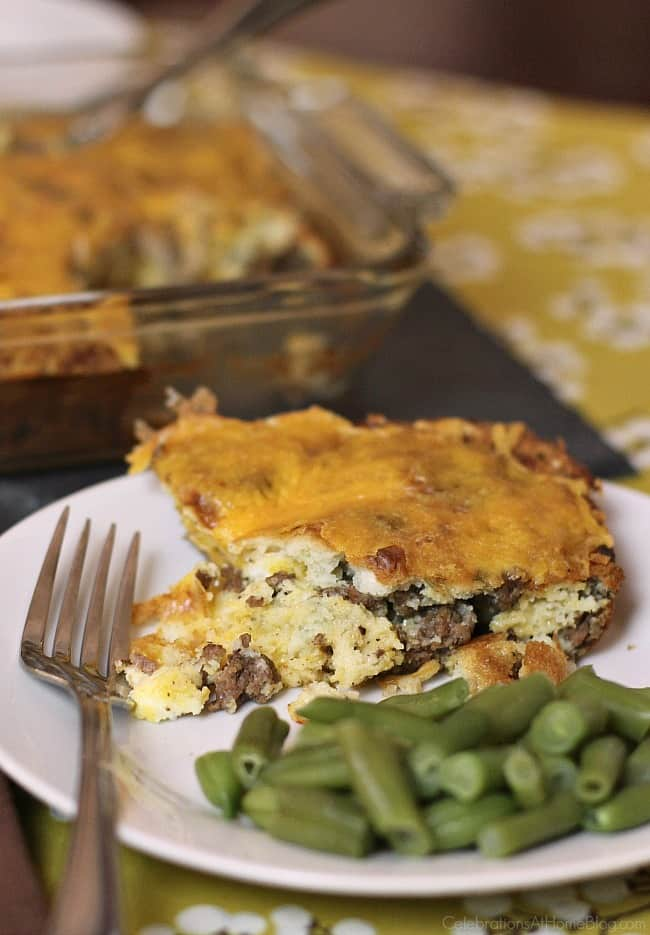Cheeseburger bake is what's for dinner! Make this easy recipe and share the love with the family or overnight guests.