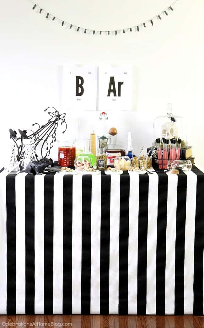Halloween Bar Science Lab theme - Celebrations at Home
