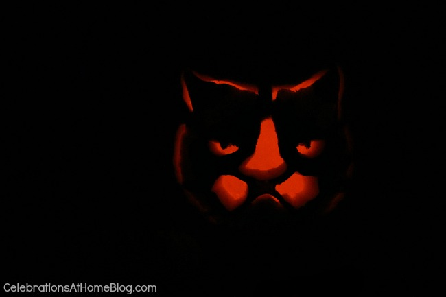 grumpy cat pumpkin carving