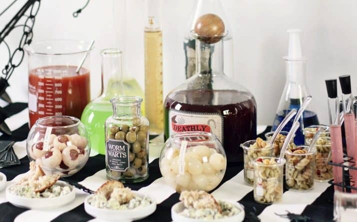 This Halloween Bar with Science Lab Theme is Perfect for Adult Parties