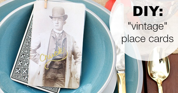 DIY :: Vintage Style Place Cards