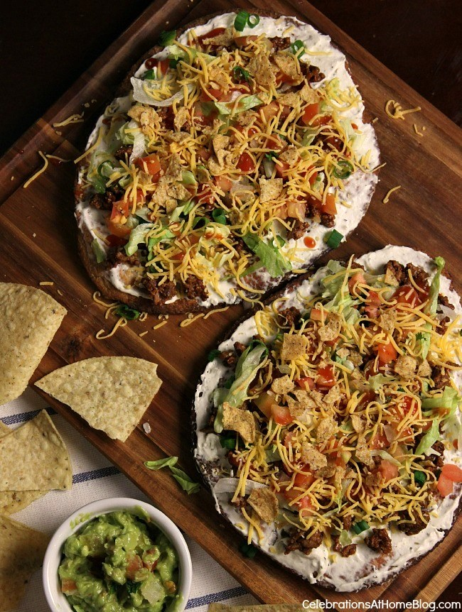 Mexican pizza with a twist