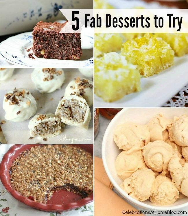 5 dessert recipes to make now