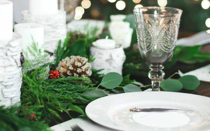 Christmas Dinner Party Tablescape & Menu Plan