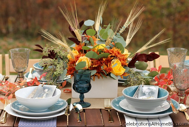 Set a simple and elegant Thanksgiving table with these ideas and inspiration. - centerpiece
