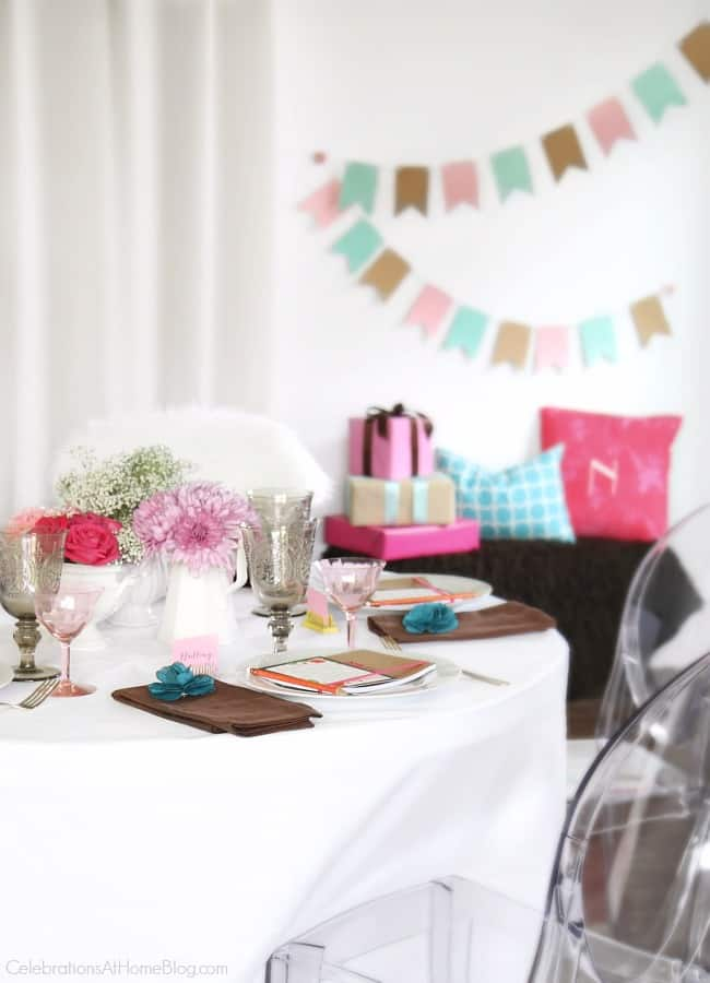 Get ideas from this baby shower inspiration shoot. Lots of decor and tips! baby shower tablescape and party decor.