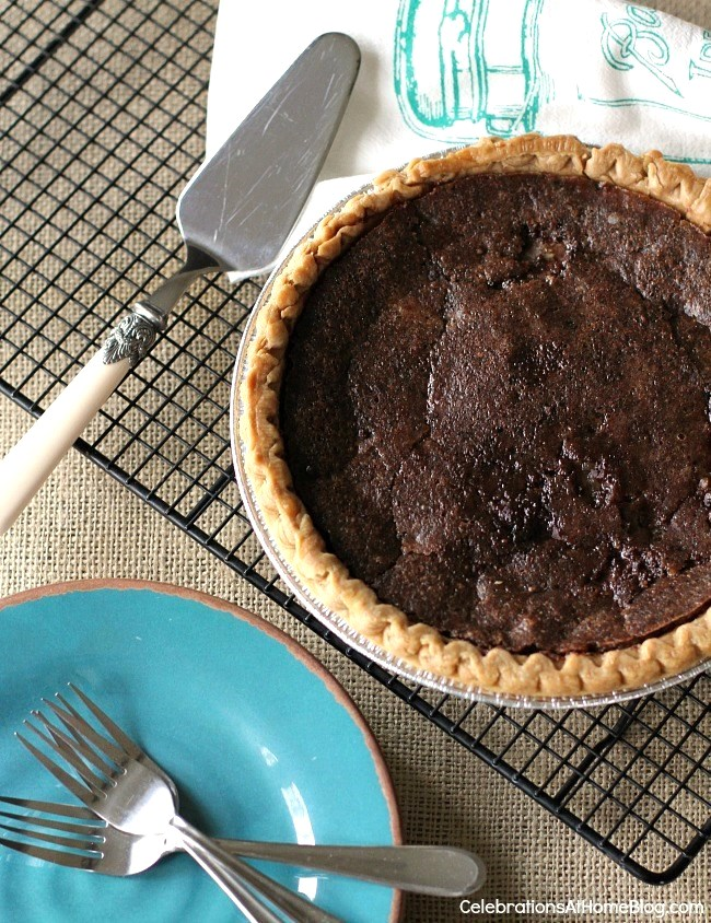 Chocolate Chess Pie & a Light Appetizer - Celebrations at Home
