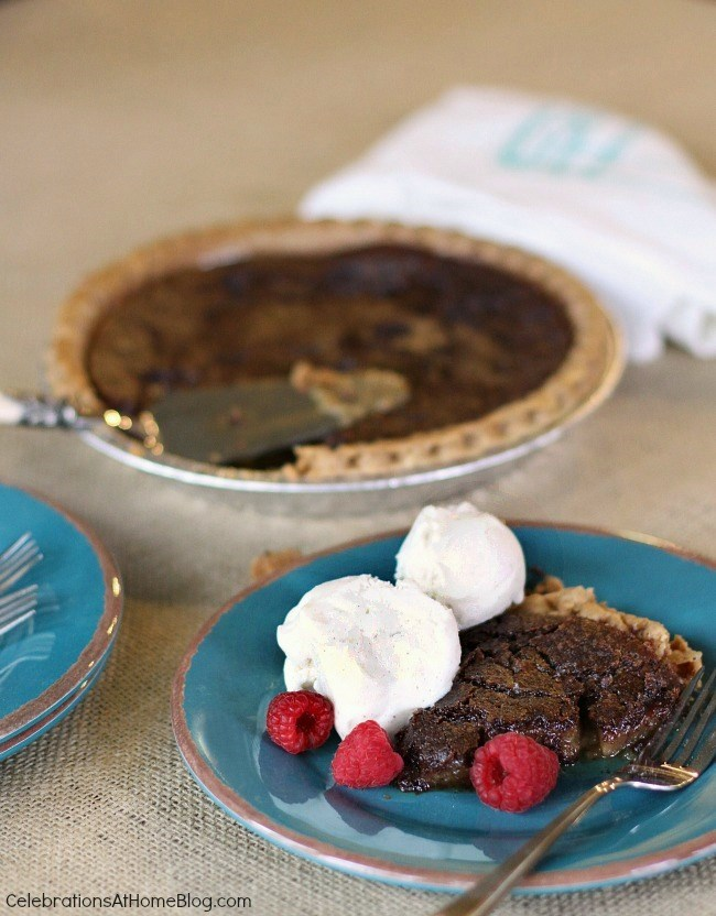 Chocolate Chess Pie & a Light Appetizer — Celebrations at Home