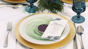 0 girls night in Christmas party place settings