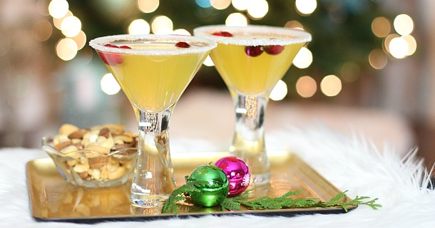 "Christmas Cocktail : ""Golden Tinsel"" Cocktail"