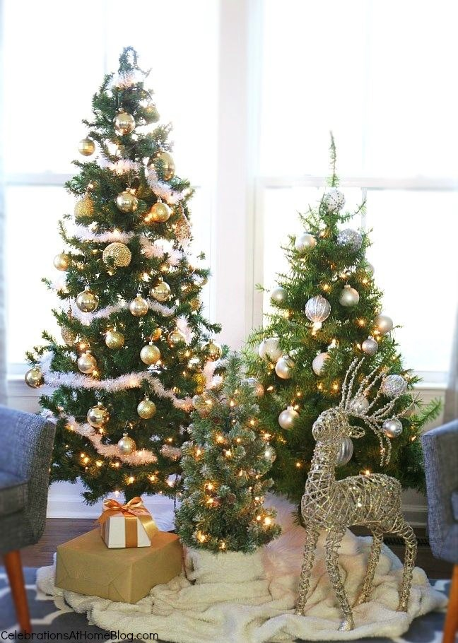 Christmas in the house_trio of trees