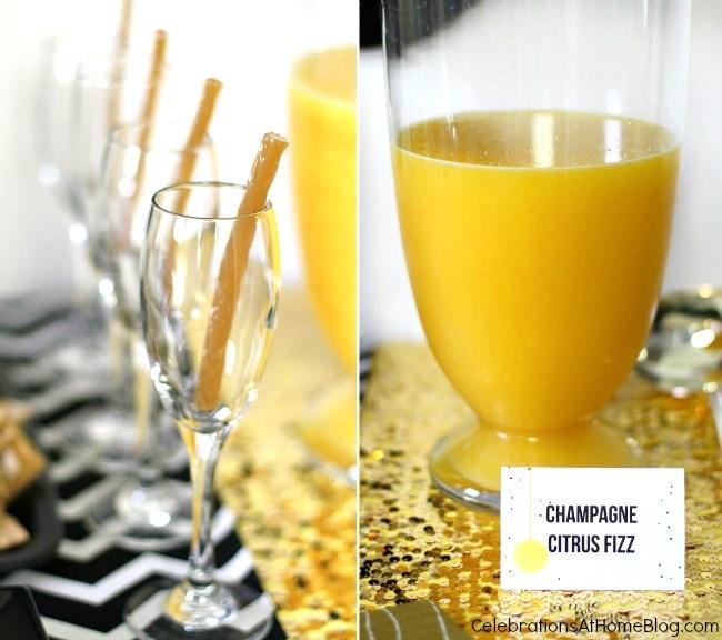 champagne citrus fizz