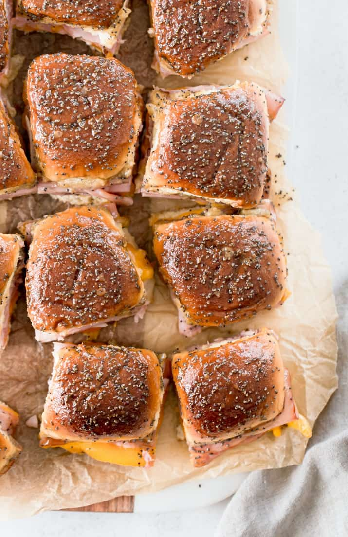 easy party sandwiches with brown sugar glaze