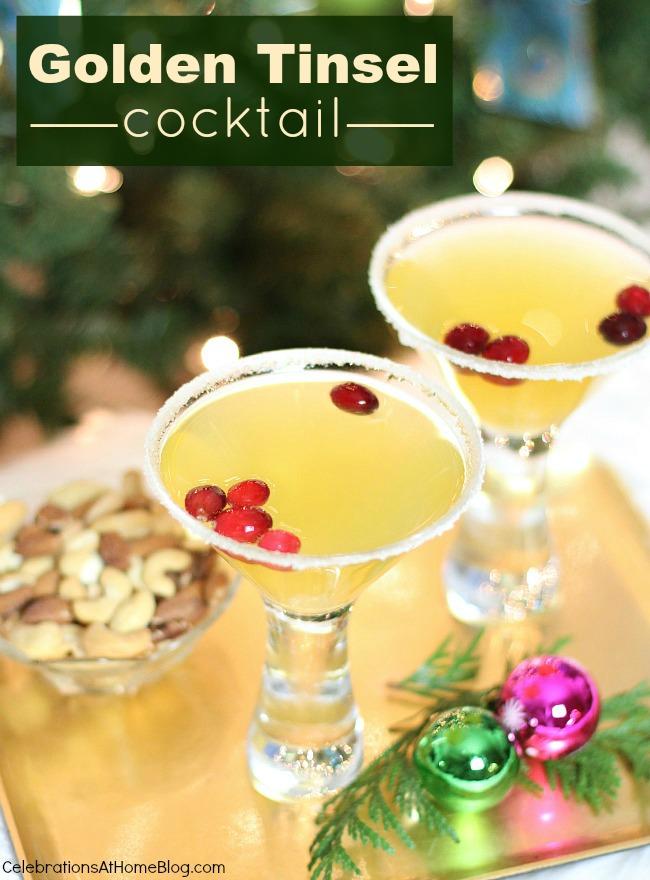 christmas cocktail    u0026quot golden tinsel u0026quot  cocktail