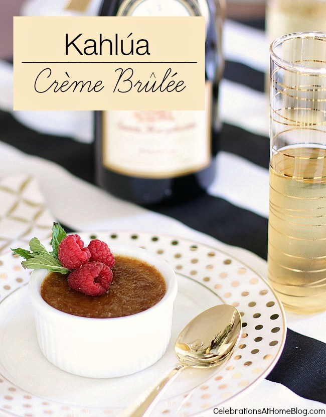 Make this Kahlua creme brulee for a special dinner party. It's so easy and a great make-ahead dessert.