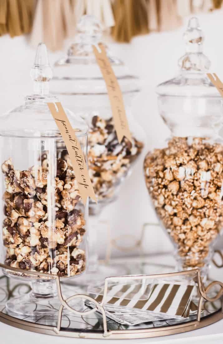 dessert popcorn & bubbly bar