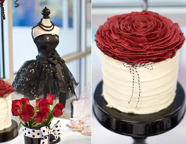 black, white, and red birthday