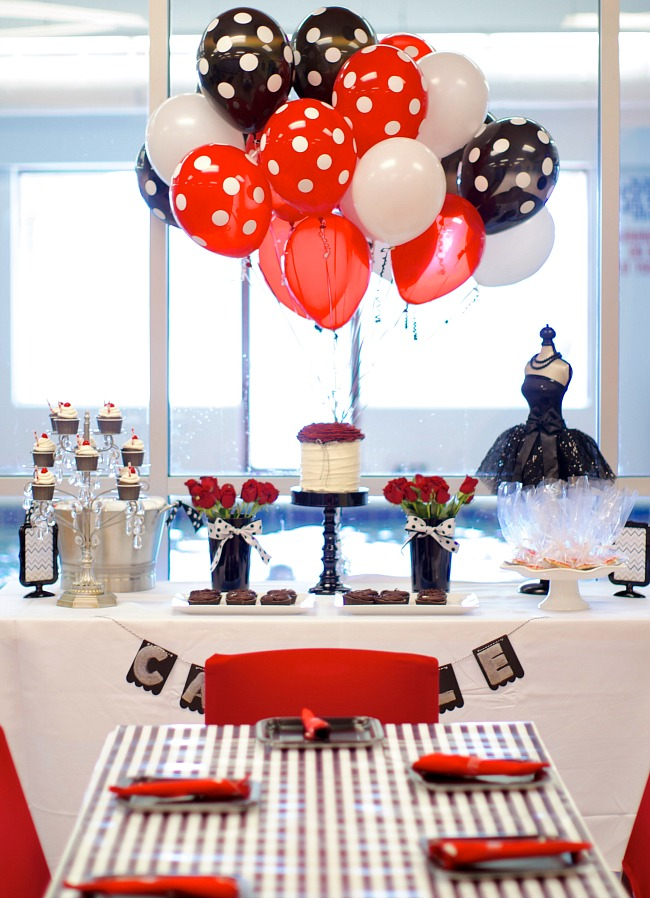 Black, White & Red Birthday Party {guest feature