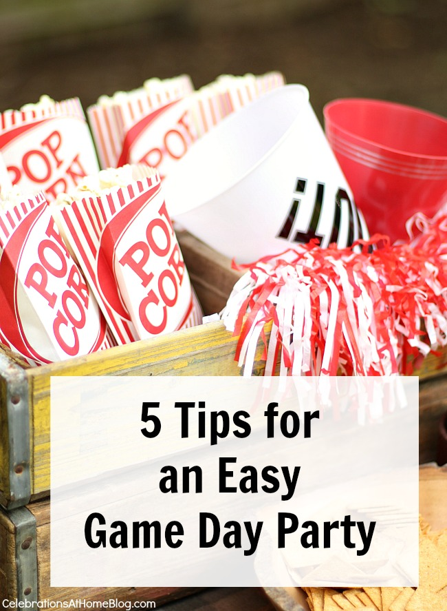 5 easy game day party tips
