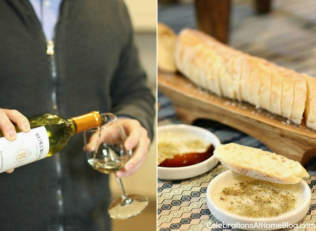 food and wine tasting party