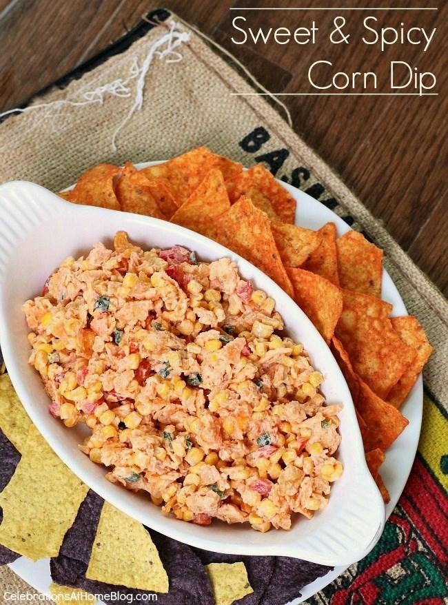 sweet and spicy Doritos corn dip