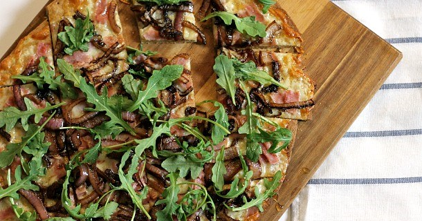 honey ham flatbread pizza
