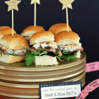 Beef and Blue BLT Party Sandwiches