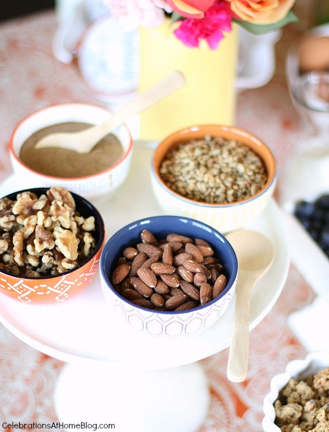 hot cereal bar toppings