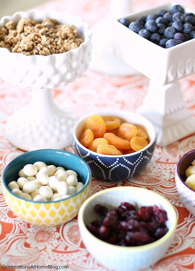 hot cereal breakfast bar toppings selection